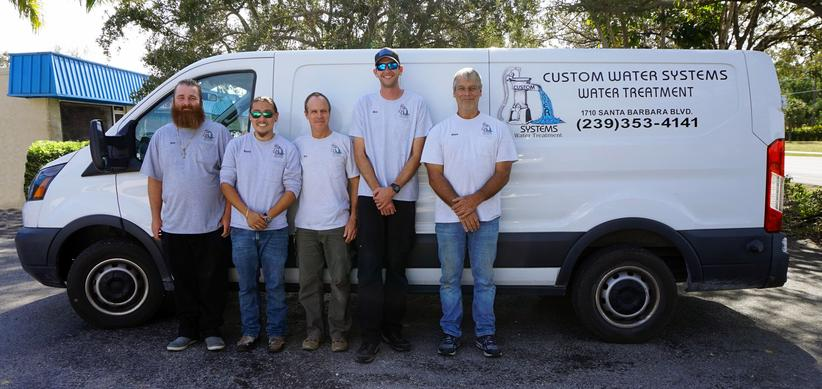 The Custom Water Systems team of expert repair and installation technicians | Custom Water Systems Collier County Well Water Treatment and Well Water Filtration Company
